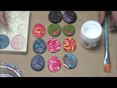 Using Your Polymer Clay scraps to make mixed media Embellishments