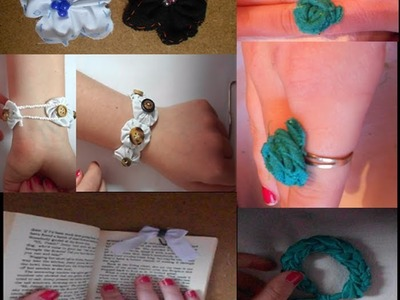 5 ways to Recycle.Reuse old fabric and material! (BeyondBracelets Contest Entry ) Part 1.
