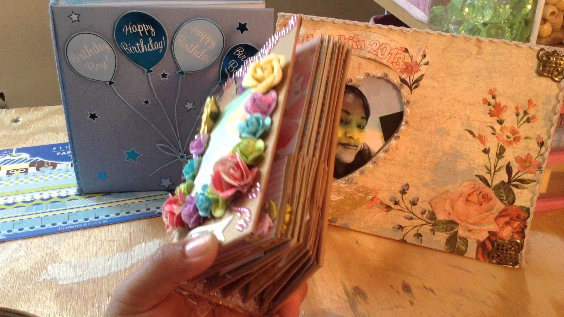 A really tiny mini colorful mini albumThe finish album from my tutorial on how to bind a mini album
