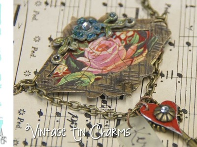 Cold Connections and Vintage TIN Jewelry - Mixed Media Monday