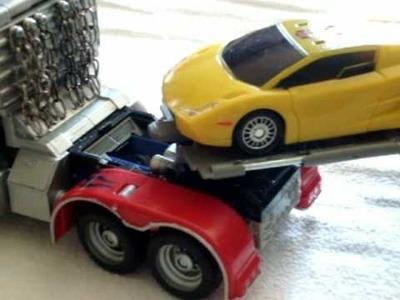 Custom leader optimus prime with custom G1 trailer