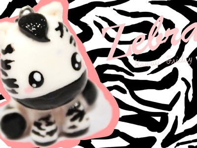 ◕‿◕Zebra! Kawaii Friday 88 - Tutorial in Polymer clay!