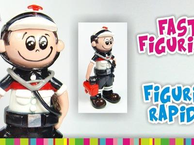 FAST FIGURINE 911 Paramedic Polymer Clay. FIGURIN RÁPIDO de Monito Cruz Roja de Arcilla Polimérica