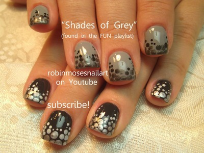 Fifty Shades of Grey Nails | Easy Nail Art Tutorial | 50 Shades of Grey Nails Designs
