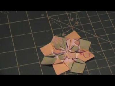 Folded Paper Flower Tutorial from the Christmas Mini