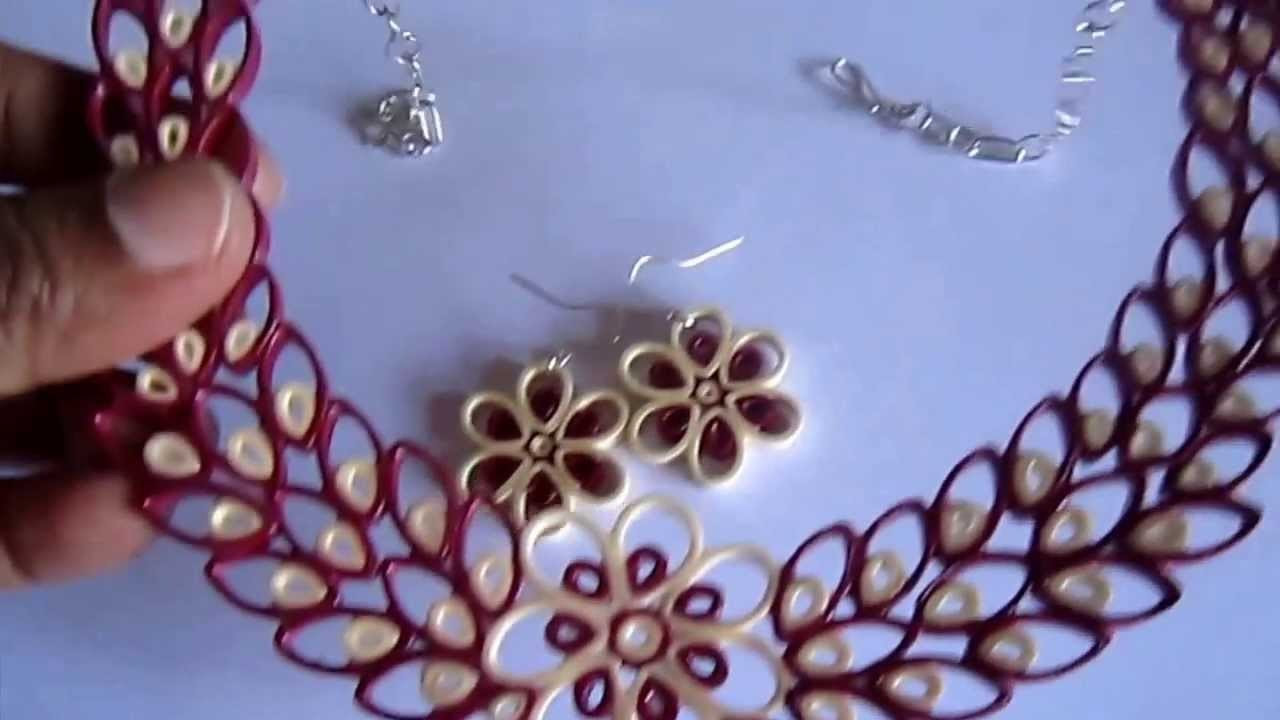 Free Form Quilling - Paper Quilling Jewelry Set (FAH01-226) Not Tutorial