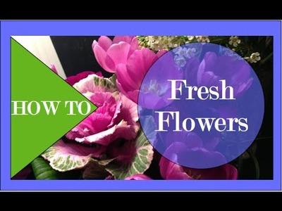 How to arrange Fresh Flowers for Gift! - Interior Design