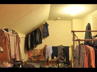 How to build an open wardrobe in your loft