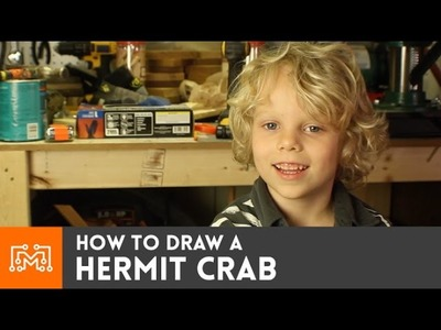 How to draw a hermit crab (with Rush)