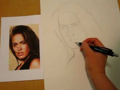 How To Draw People Faces | Drawing Megan Fox's Face