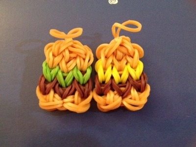 How to Make a Hamburger Charm on the Rainbow Loom - Original Design