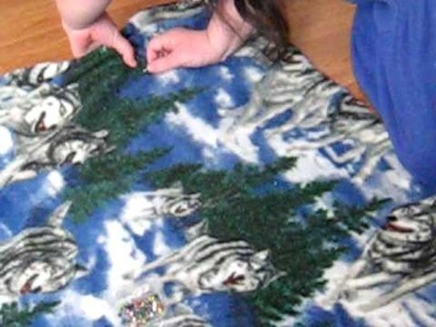 How To Make A No Sew Fleece Blanket