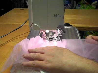 How to make a pettiskirt using a ruffler