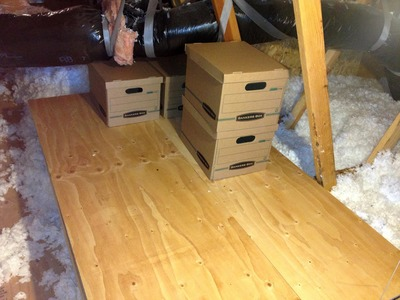 How to Make an Attic Platform for Storage