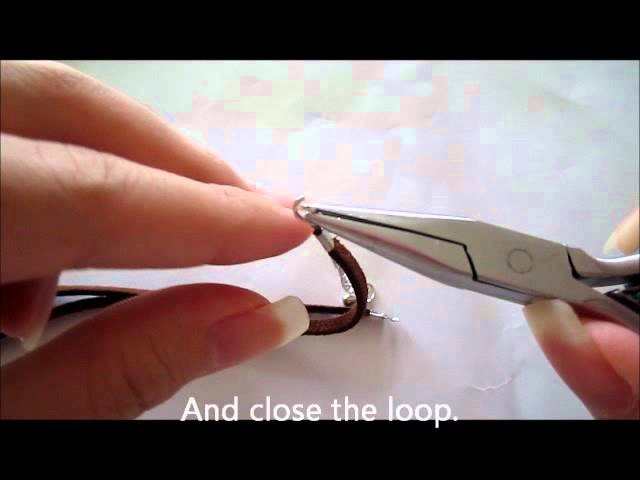 How to make necklace or bracelet using Faux Suede Cord