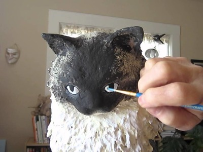 How to Paint a Paper Mache Cat