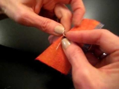 How to sew a hook and eye