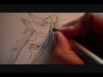 Inking a Horse in Preparation for Markers- Part 1
