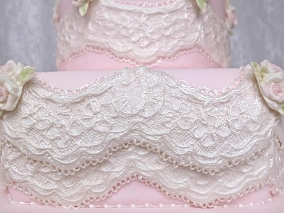 Karen Davies Cake Decorating Moulds. Molds. Free beginners tutorial. how to - Alice vintage lace