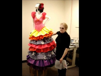 Life-Size Dress Made of Paper for Hotel Galvez.wmv