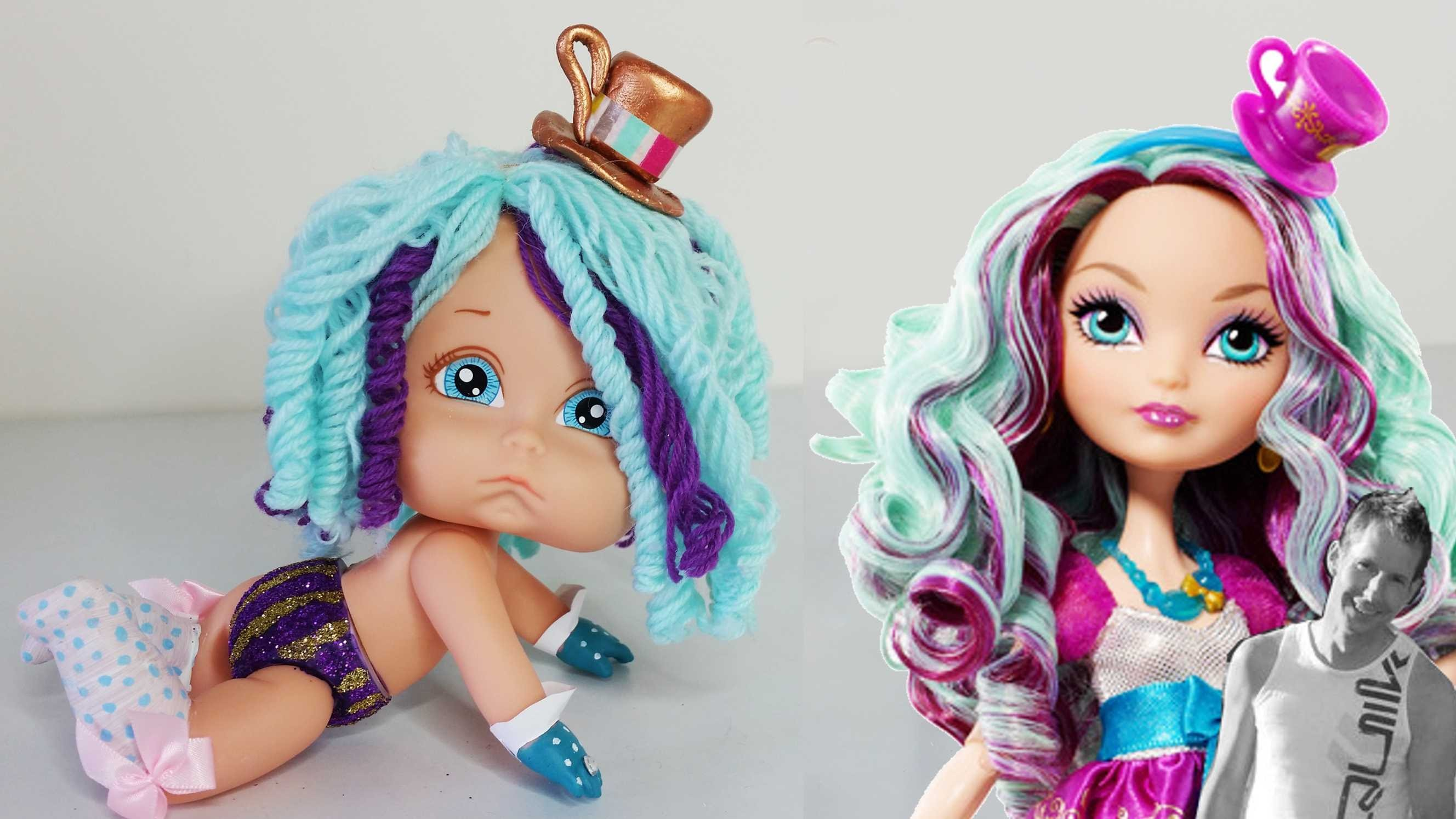 Madeline Hatter Themed Baby Tutorial - Ever After High