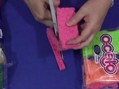 Make Your Own Sponge Paint Brushes