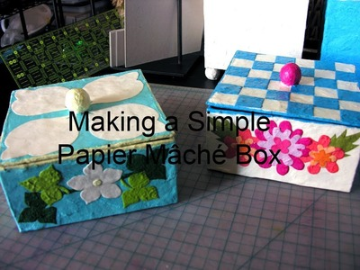 Making a Simple Papier Mache Box