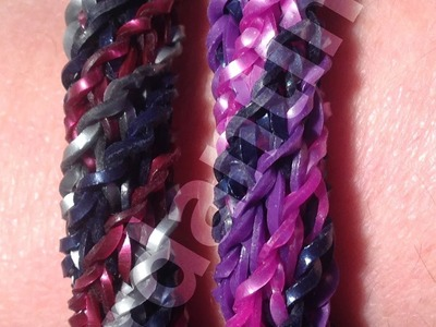 New Rainbow Loom Triple Cross Spiral Twist Bracelet