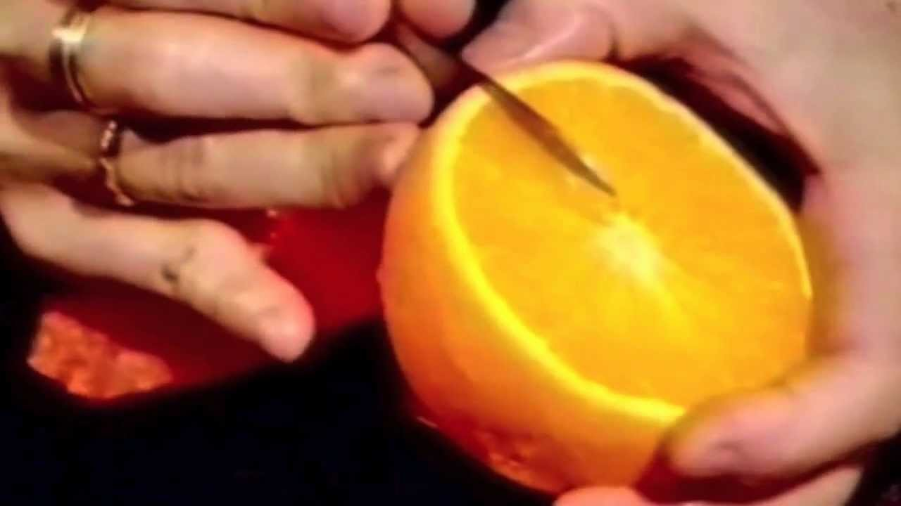 Orange Simple Flower - Beginners Lesson 14 By Mutita The Art Of Fruit And Vegetable Carving Tutorial