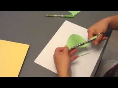 Paper Cutting How-To (1) How to cut a leaf