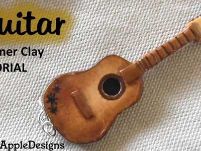 Polymer Clay Classic.Acoustic Guitar Charm.Pendant Tutorial