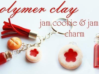 Polymer clay jam cookie & resin jam jar TUTORIAL - jam keychain PART 2