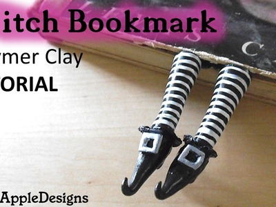 Polymer Clay Witch Shoes.Feet Bookmark TUTORIAL | Maive Ferrando