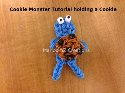 Rainbow Loom Cookie Monster doll or charm - Original Design