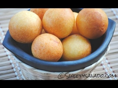 Recipe For Colombian Buñuelos - How To Make Colombian Cheese Fritters - Sweetysalado.com