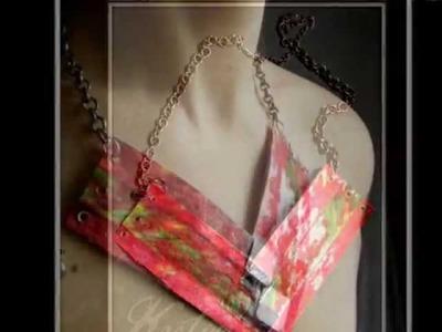 Recycled Jewelry - Paper Jewelry Mix Media