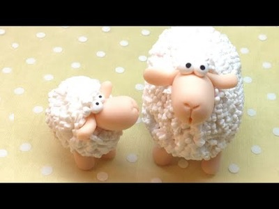 Sheep. Ovelha - Polymer clay (Fimo) Tutorial
