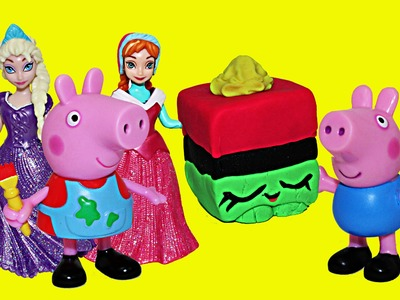 Shopkins Peppa Pig Frozen Anna and Elsa Play Doh Giant Shopkin George Pig Magiclip Dolls