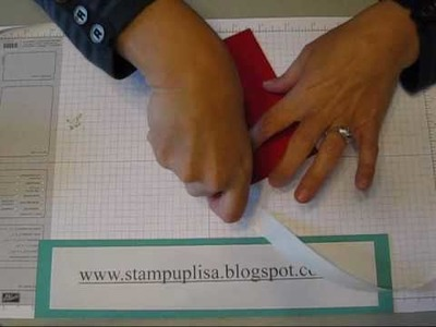 Stampin UP MIni Pizza Box for holding 3x3 cards TUTORIAL