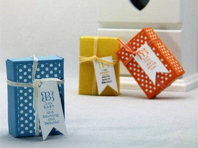 Stampin Up Mini Treat Gift Box Tutorial