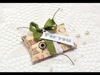 Stamping & More #49 - pillow box ribbon dispenser