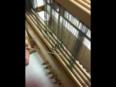 Sue Makes a String Heddle - (Used to repair threading error)