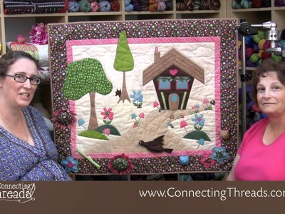 Sweet Path Interactive Wall Hanging for the applique lover