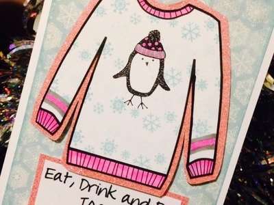 Ugly Sweater Digital Stamps or Template