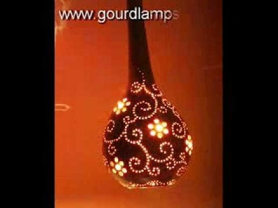 Artistic gourd lamps - http:.www.gourdlamps.com