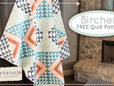 Birchen Free Quilt Pattern for Art Gallery Fabrics and Fat Quarter Shop - AGF Stitched