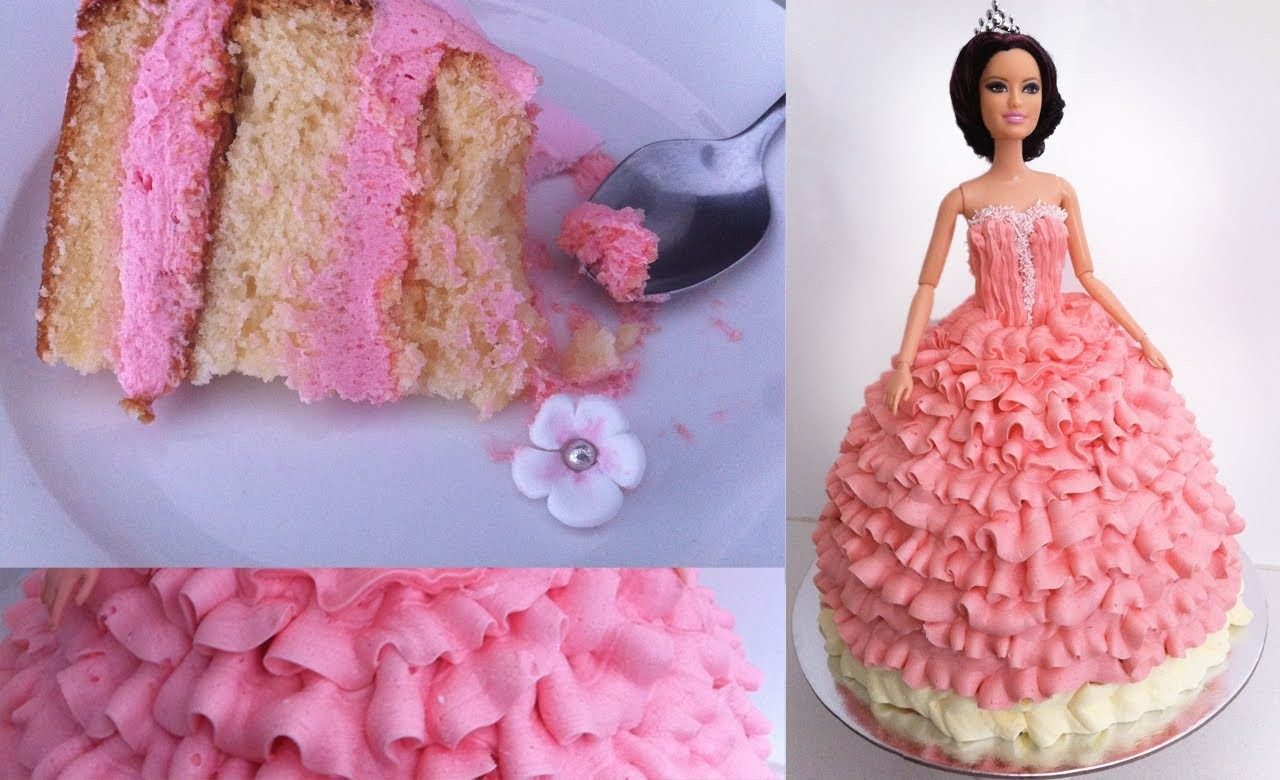 Birthday Cake. Princess Doll Tutorial How To Cook That Ann Reardon