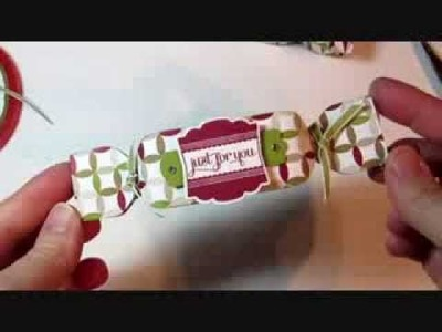 Christmas Cracker Box with Envelope Punch Board