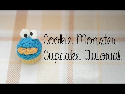 Cookie Monster Cupcake Tutorial (Polymer Clay)