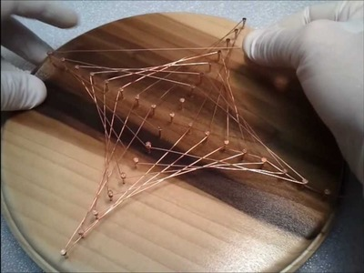 Copper wire astroid plaque